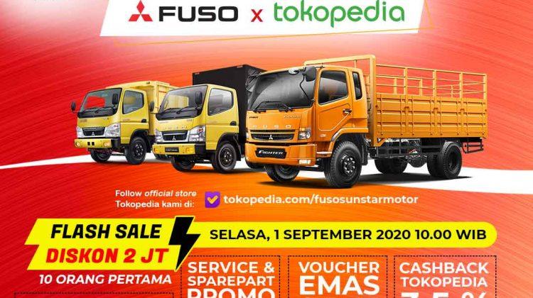 Beli Truk Mitsubishi Fuso via Tokopedia, Dapat Diskon Rp 2 Juta hingga Voucher Emas