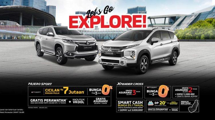 Promo Mitsubishi 2021: Bunga 0%, DP & Cicilan Ringan, Gratis Asuransi