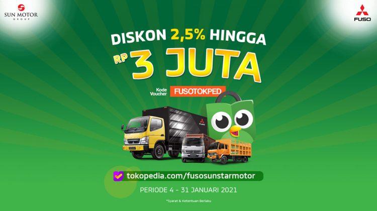 Promo Truk FUSO 2021 Diskon Hingga Rp 3 Juta