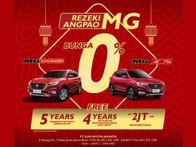 Promo MG Terbaru – Bunga 0%, Garansi 5 Tahun, Gratis Perawatan & Voucher Rp 2 Juta
